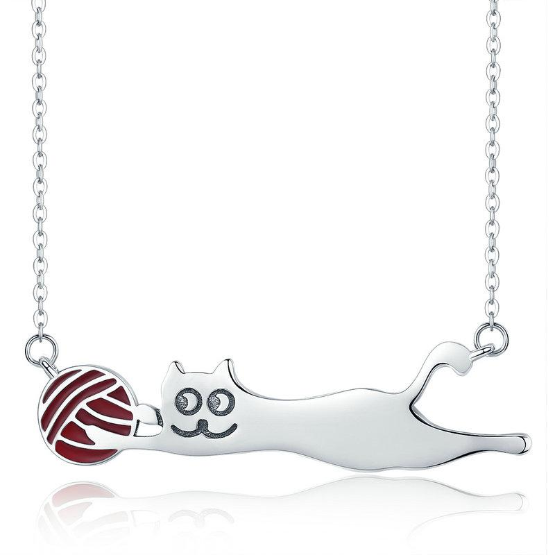 Authentic 100 925 sterling silver cat pendant necklace kittens authentic 100 925 sterling silver cat pendant necklace aloadofball Gallery