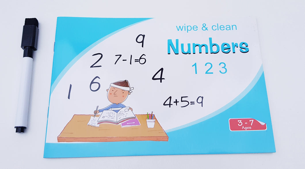 Wipe and Clean Numbers Book - Cleva Poppy