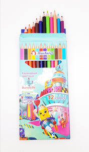 12 Colour Pencils Pack - Cleva Poppy