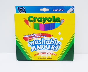 12 Washable Markers - Crayola - Cleva Poppy