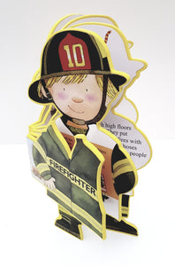 Fireman Career Soft Book - Cleva Poppy