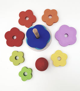 Wooden Flower Stacker - Cleva Poppy