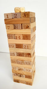 Wooden Jenga Set - Cleva Poppy