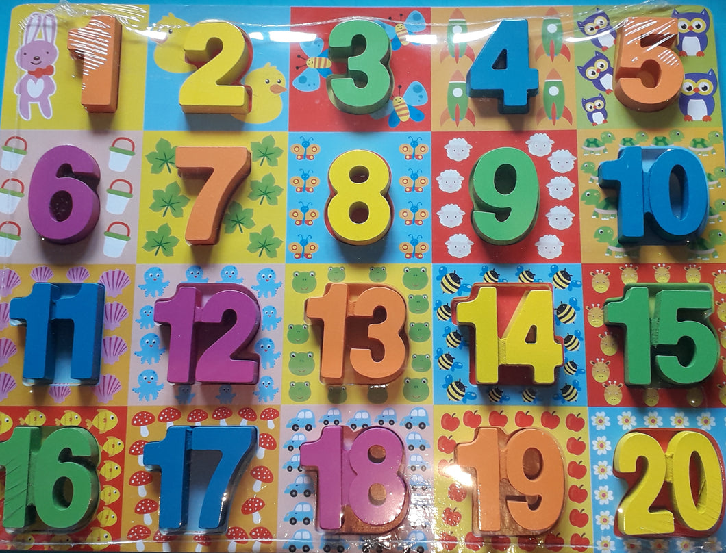 Numbers Chunky Wooden Puzzle - Cleva Poppy