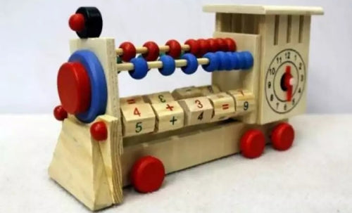 Wooden Abacus Train - Cleva Poppy