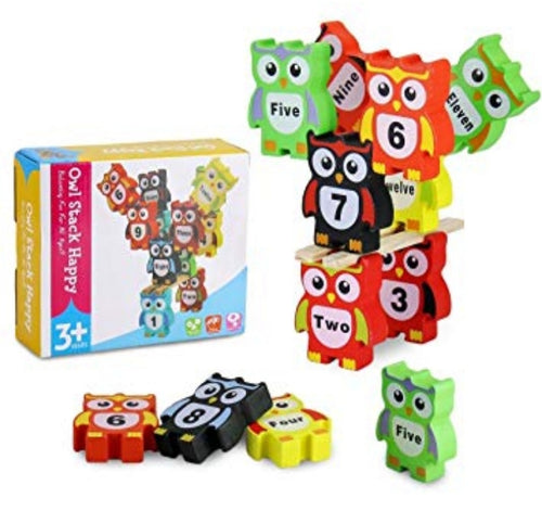 Wooden Owl Stacking Numbers - Cleva Poppy