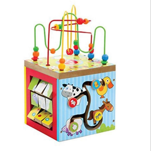 Bead Maze 5in1 Learning Centre Activity Cube - Cleva Poppy