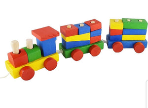 Wooden Train Shape Sorter