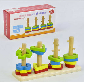 Unlock 4 Column Shape Sorter