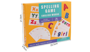 Spelling Game Flash Cards and Wooden Alphabets