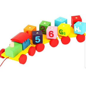 Alphabet and Numbers Wooden Train