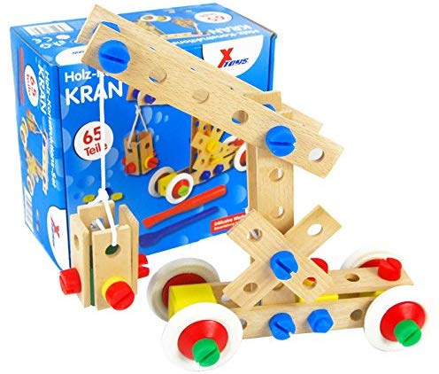 Wooden Crane Construction Set - Cleva Poppy