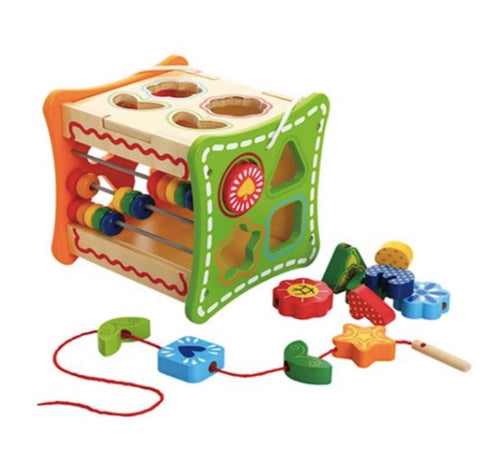 5 in 1 Learning Cube - Cleva Poppy
