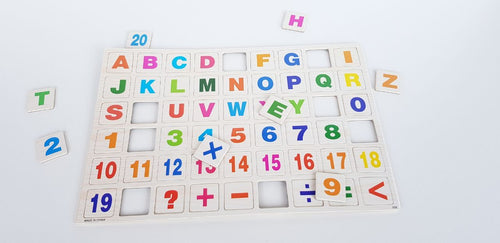 Alphabet and Numbers Fridge Magnets - Cleva Poppy