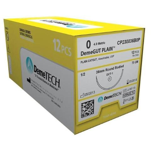 Demetech Plain Catgut Absorbable Suture