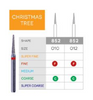 3D Dental SABUR Operatory Diamond Burs (CHRISTMAS TREE)