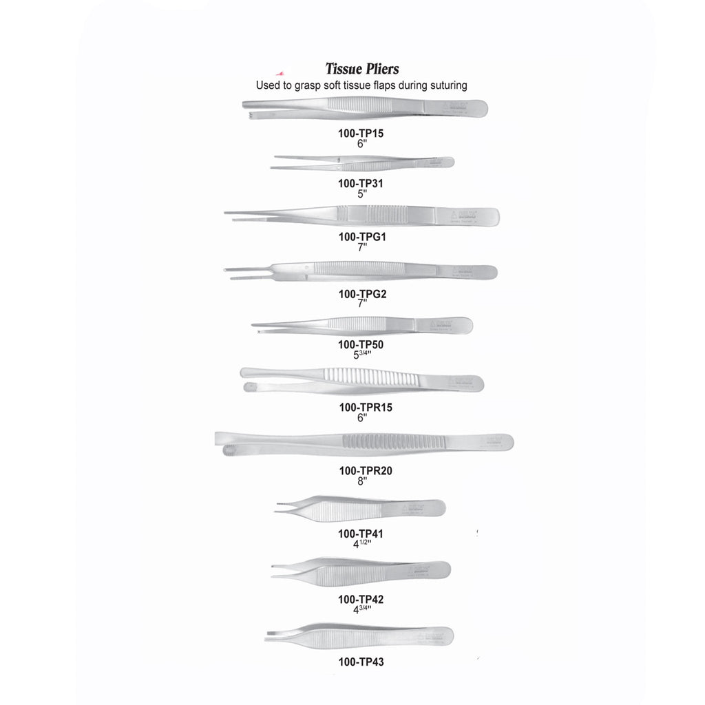 USA Delta Tissue Pliers Dental Instruments