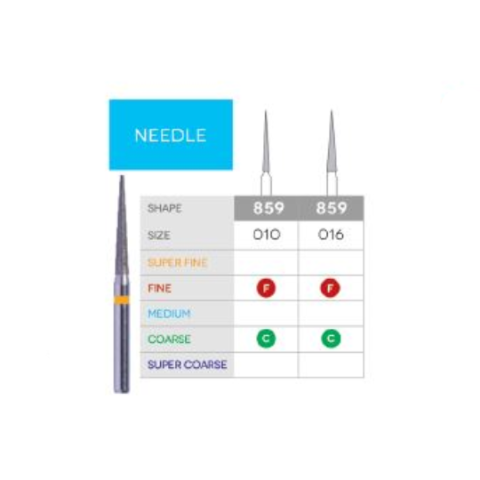 3D Dental SABUR Operatory Diamond Burs (NEEDLE)