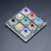 9 key Cherry Gateron Green Clear White Gray Clear Zealio Purple Kailh Box Navy Jade  Switches Shaft Testing Tool Switch Tester