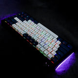 YMDK OEM Double Shot Shine Through PBT 125 keycaps Dark Blue Combine for ANSI ISO 108 87 61 KBD75 68