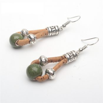 earring, Colorful Drop Earrings - movevegan, vegan fashion product trends, cork, animal free