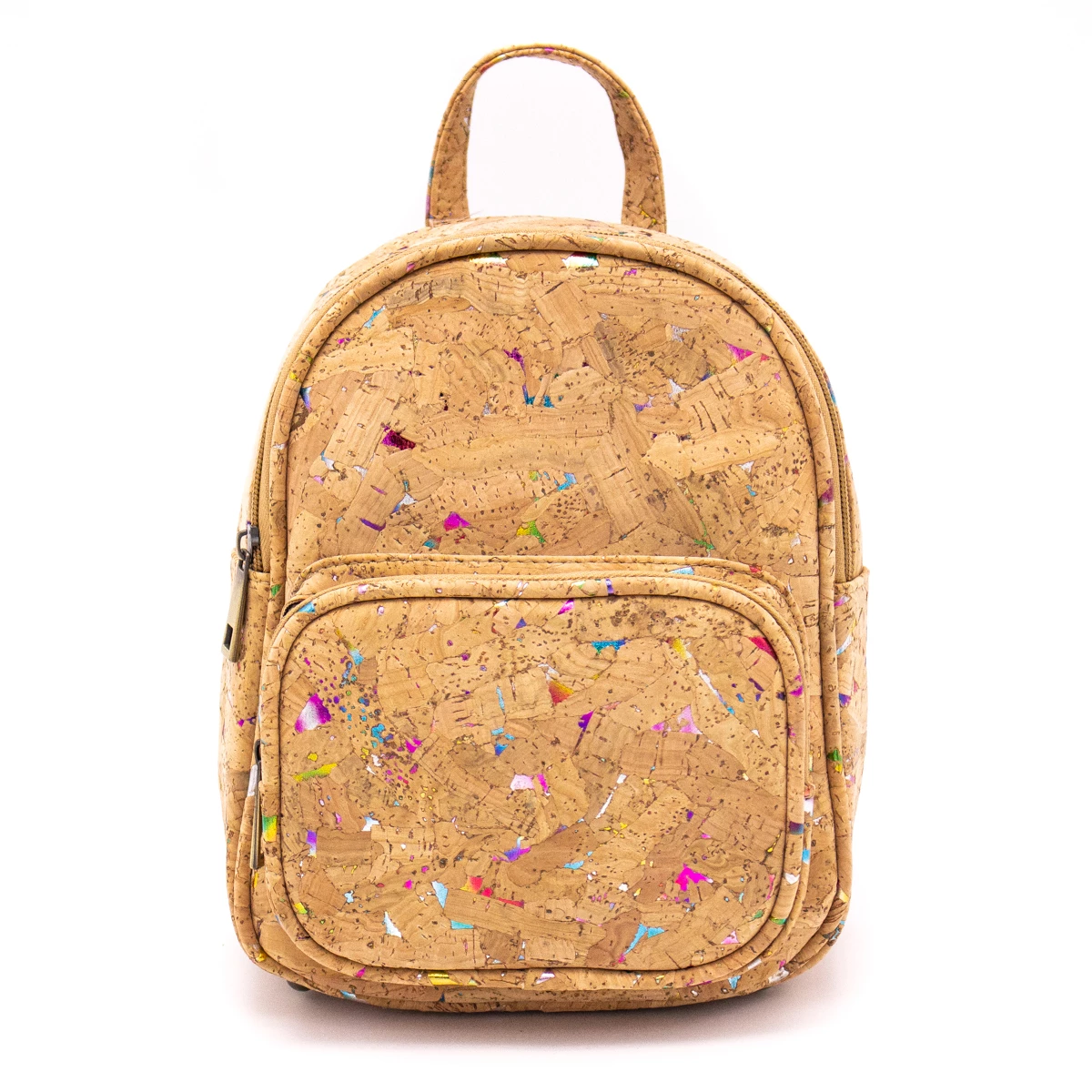 backpack, Lovely Rainbow colored backpack crafted by hand - movevegan, vegan fashion product trends, cork, animal free