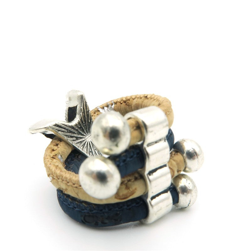 , Starfish blue/natural ring - movevegan, vegan fashion product trends, cork, animal free