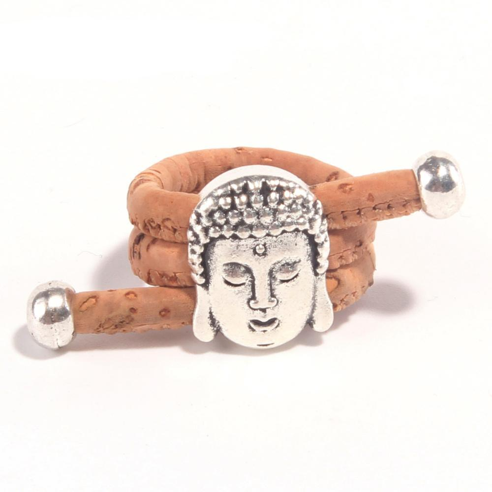 ring, calm buddha ring - movevegan, vegan fashion product trends, cork, animal free