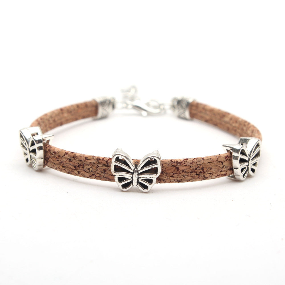bracelet, Vintage Butterfly Bracelet - movevegan, vegan fashion product trends, cork, animal free