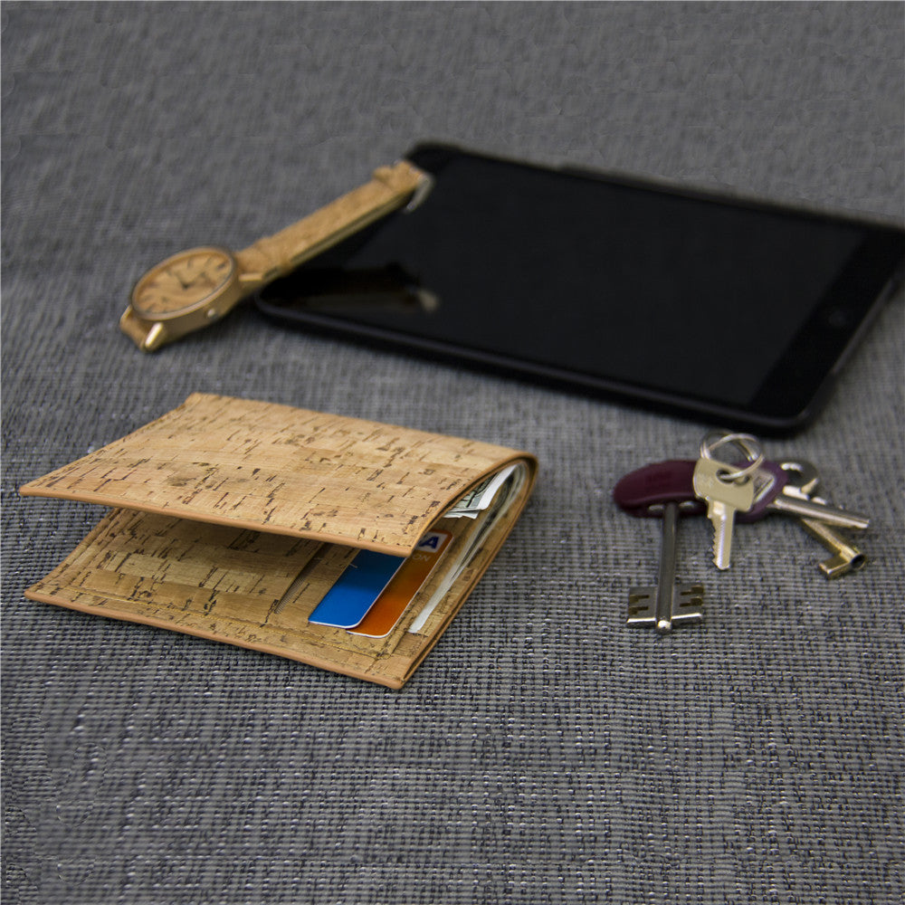 wallet, neutral and simple Cork Wallet - movevegan, vegan fashion product trends, cork, animal free