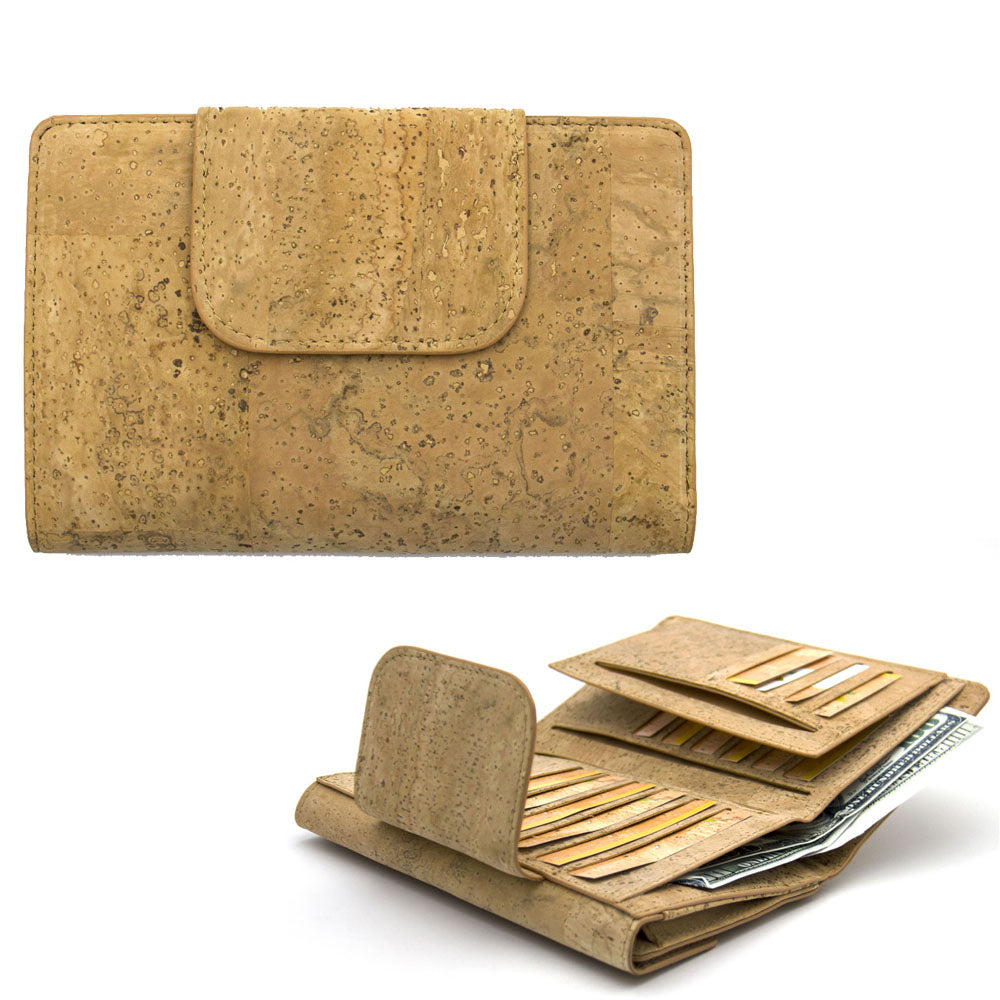 wallet, Vegan Leather Trifold Clutch Wallet - movevegan, vegan fashion product trends, cork, animal free