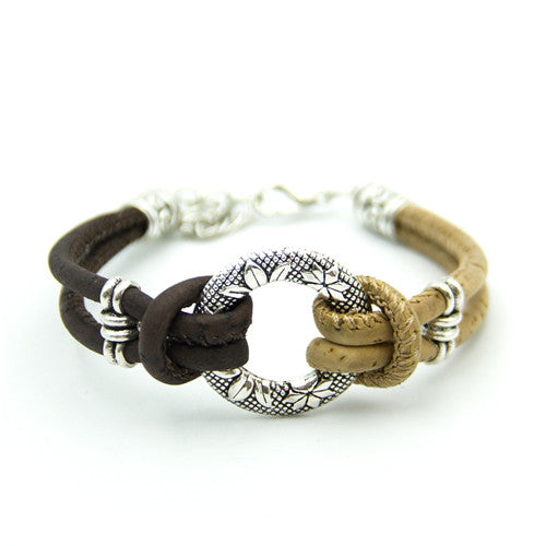 bracelet, Flower & Strength Bracelet - movevegan, vegan fashion product trends, cork, animal free