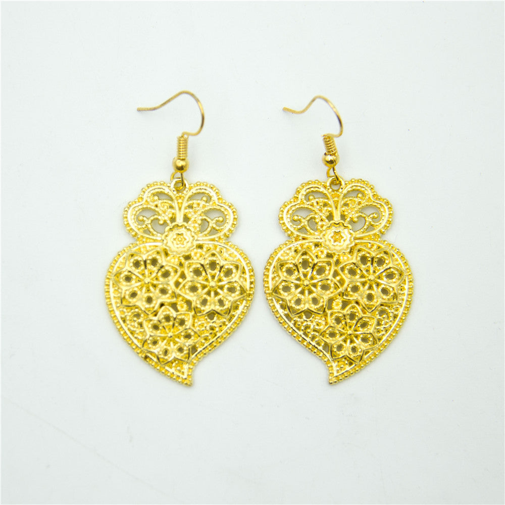 earring, Golden Viana Heart Earrings - movevegan, vegan fashion product trends, cork, animal free