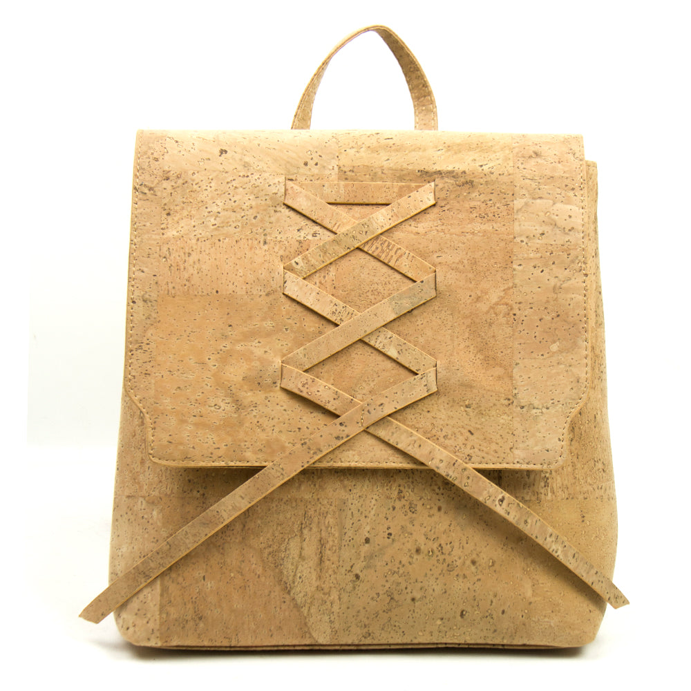 backpack, Vegan ribbon bagpack - movevegan, vegan fashion product trends, cork, animal free