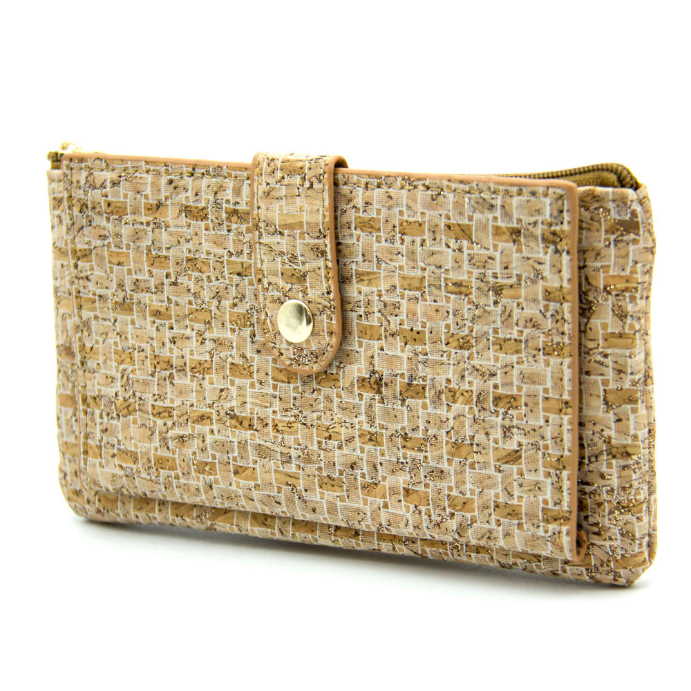 wallet, Zipper Wallet w/ weaving pattern - movevegan, vegan fashion product trends, cork, animal free