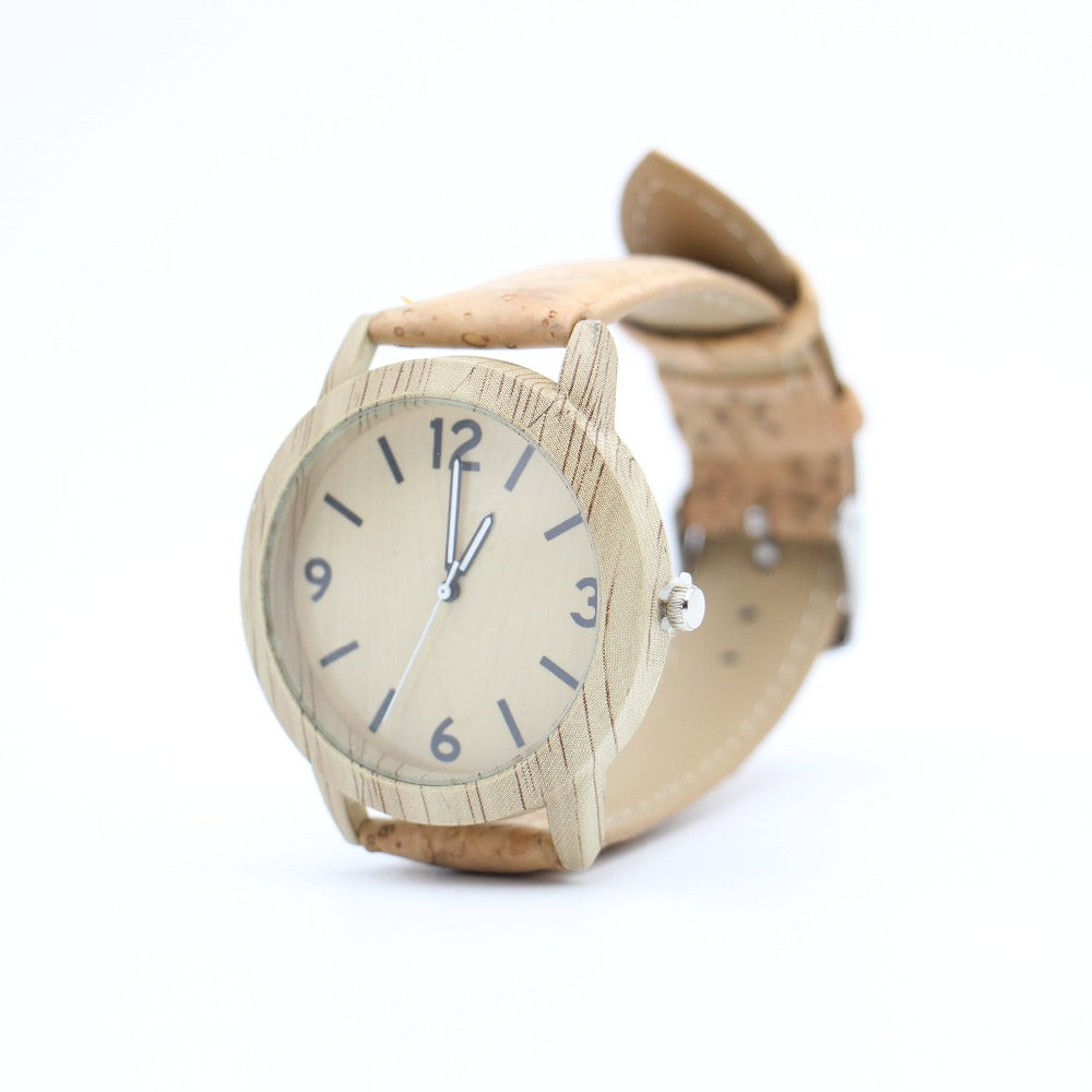 watch, Natural and Natural Silver Cork Watch - movevegan, vegan fashion product trends, cork, animal free