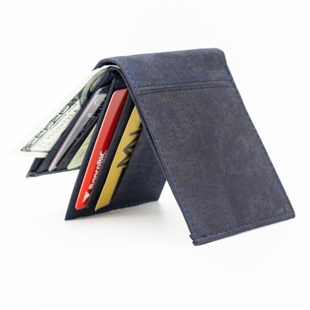 wallet, Handmade blue cork wallet - movevegan, vegan fashion product trends, cork, animal free