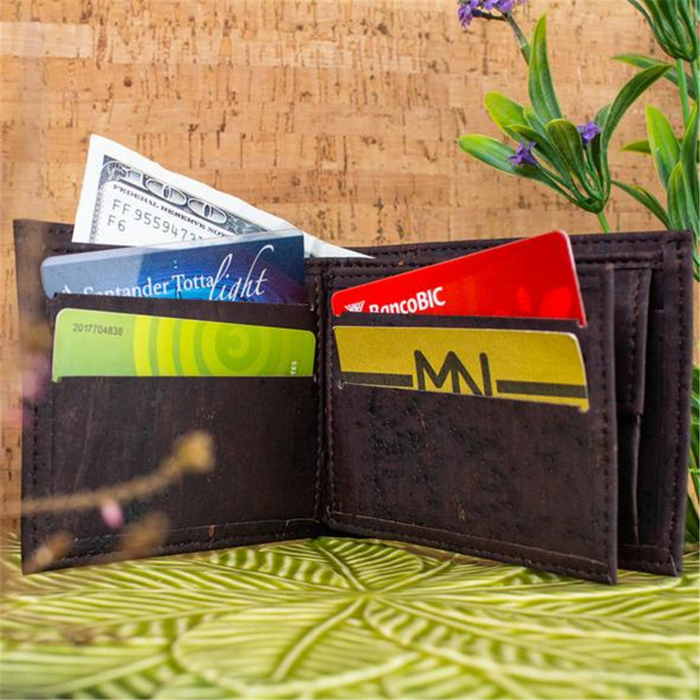 wallet, Handmade brown cork wallet - movevegan, vegan fashion product trends, cork, animal free