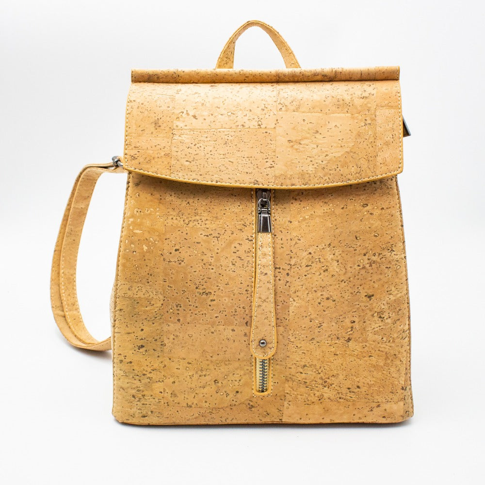 backpack, Robust school-style girls ''bagpack'' - movevegan, vegan fashion product trends, cork, animal free