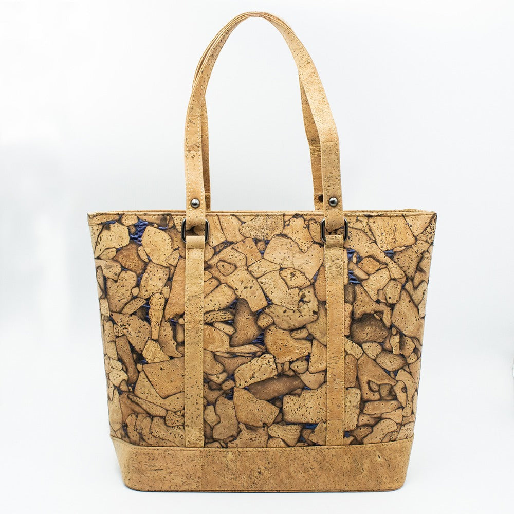 bag, Wooden Crack Effect Handbag - movevegan, vegan fashion product trends, cork, animal free