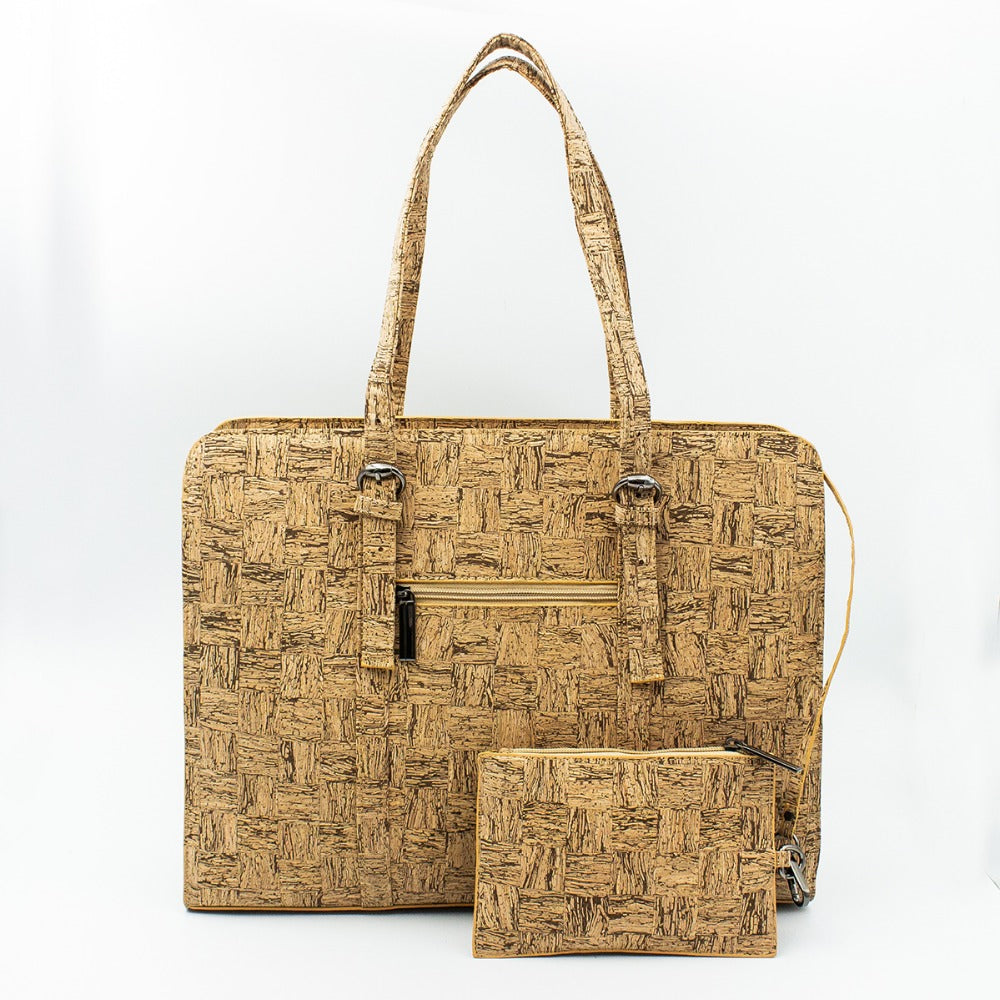 bag, Business cork bag with briefcase - movevegan, vegan fashion product trends, cork, animal free