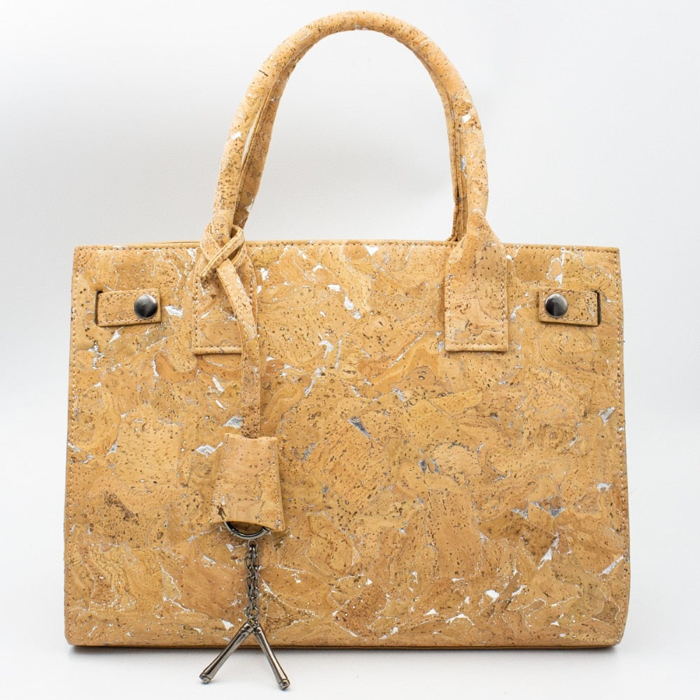 handbag, Premium tote styled lady handbag - movevegan, vegan fashion product trends, cork, animal free