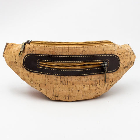 bag, Handmade cork Fanny Pack waist bag - movevegan, vegan fashion product trends, cork, animal free