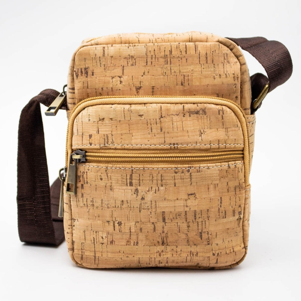 bag, Square messenger bag w/ strap - movevegan, vegan fashion product trends, cork, animal free