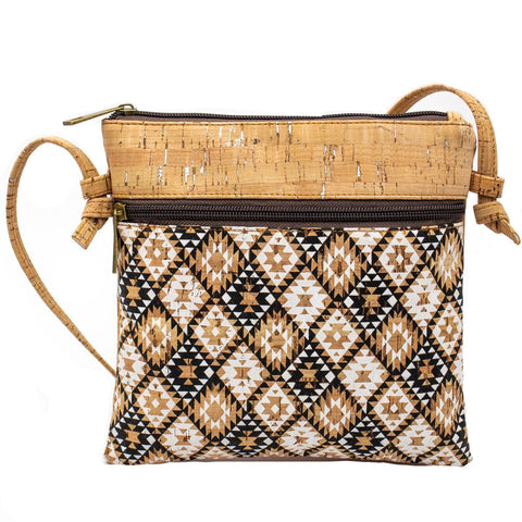 bag, Vegan ethnic pattern cross-body bag - movevegan, vegan fashion product trends, cork, animal free