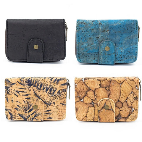 wallet, Raw - variable cork pattern wallets - movevegan, vegan fashion product trends, cork, animal free