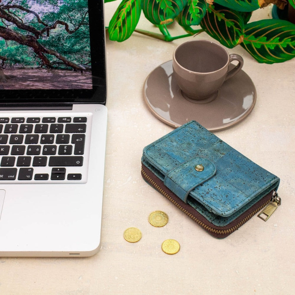 wallet, variable cork pattern wallets - movevegan, vegan fashion product trends, cork, animal free