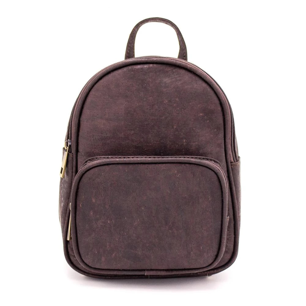 backpack, Minimalistic Dark Brown Cork-Leather Backpack - movevegan, vegan fashion product trends, cork, animal free