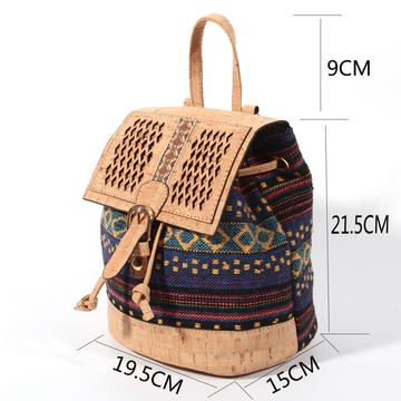 backpack, Cork backpack with Colorful Textile - movevegan, vegan fashion product trends, cork, animal free