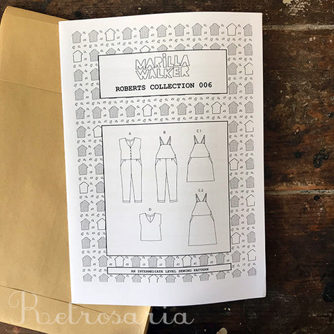Marilla Walker Roberts Collection sewing pattern